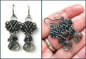 rutilated quartz earrings by annie-jewelry