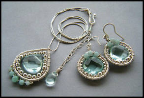 aqua quartz set by annie-jewelry