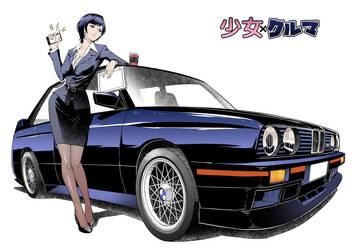 Shojo x Kuruma - BMW M3 E30 by GoodOtaku