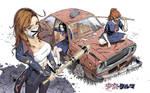 Shojo x Kuruma - Sukeban Girls by GoodOtaku