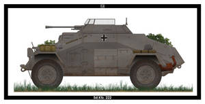 Sd.Kfz. 222 by PsykoHilly