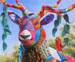 Yarn deer by veracauwenberghs