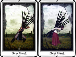 Tarot-Ten of Wands by azurylipfe