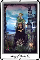 Tarot- King of Pentacles by azurylipfe