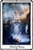 Tarot- Wheel of Fortune by azurylipfe