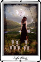 Tarot-Eight of cups by azurylipfe