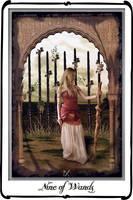 Tarot- Nine of Wands by azurylipfe