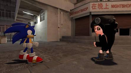 Sonic Vs. Major Octoling by ZackSonic123