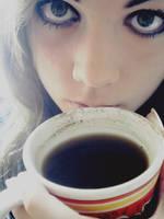 Drowning in black coffee by c2ffee