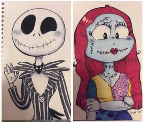 Jack and Sally by peanutcat62