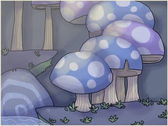 Background Practice~ secret Mushrooms by peanutcat62