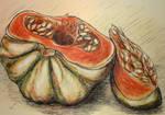 The cut pumpkin by LasmejaLora