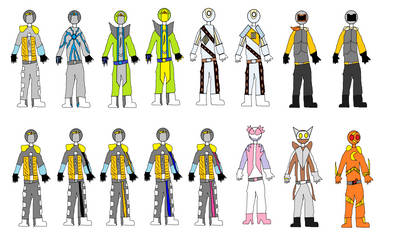 Kamen Rider Paradox's Riders by syer1001