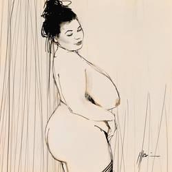 Gaelle sketch by Brandoch-Daha