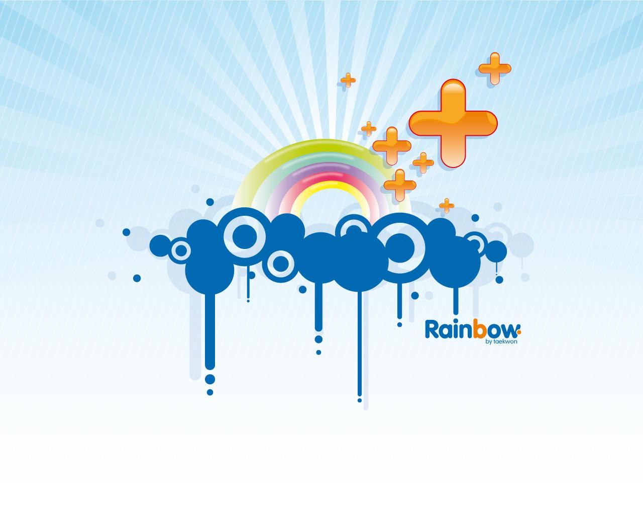 Wallpaper Rainbow by Taekwon01