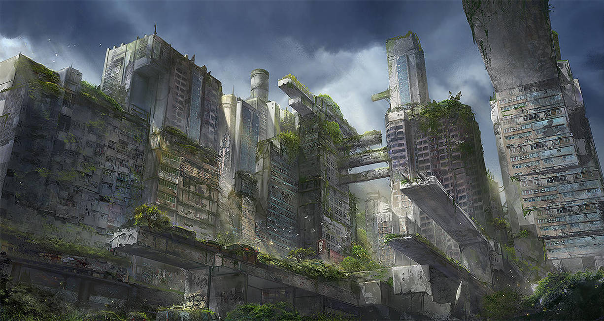The Giants of the Past - A lost City by flaviobolla