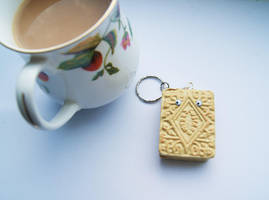 Custard Cream Keychain by ButtonxMushroom