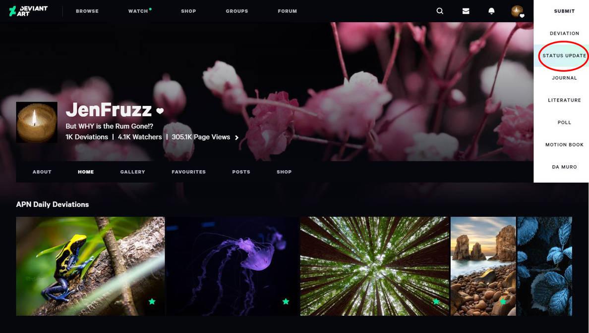 Submit menu by JenFruzz