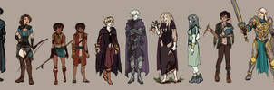 Character Sketches  by JillLenaD