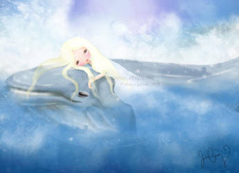 The Sister and the Whale by solocosmo