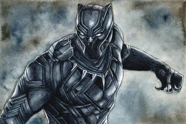 Black Panther by LiubovKorotkova