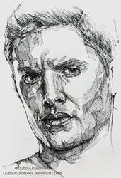 Dean Winchester (Ink) by LiubovKorotkova