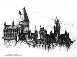 Hogwarts (Inktober 2016) by LiubovKorotkova