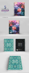Notebook Mockup Vol 1 Photoshop - Download by honnumgraphicart