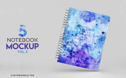 Notebook Mockup Vol 2 Photoshop - Download by honnumgraphicart