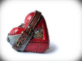 Steampunk Heart Polymer Clay by Rocksterize
