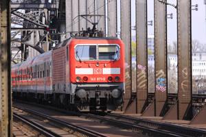 Train on the bridge by UdoChristmann