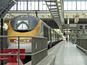 Train in a station by UdoChristmann