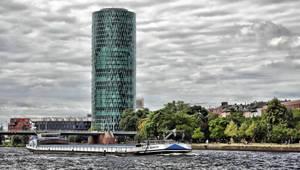 River Main - Frankfurt - Germany by UdoChristmann