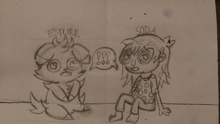 Sally Face X Poke'mon-Soda and Espurr by RainbowRaveHappyAppy