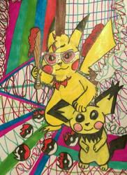 Pikachu's Lament(TheLivingTombstone) Fanart by RainbowRaveHappyAppy