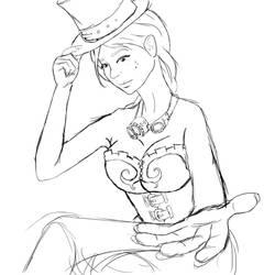 Steampunk lady by Elerd