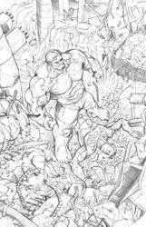 Hulk Destroyed Superman 120 by SlimJive