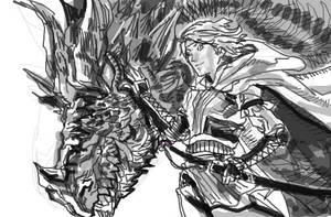 dragon and girl by makwacheong