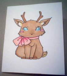 Chibi Raindeer Christmas Card by Phaiyle