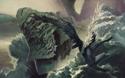 A fallen angel and The battles by kakotomirai