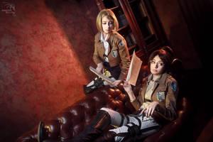 Hanji and Petra by AlienOrihara