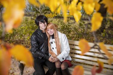 Asuna and Kirito by AlienOrihara