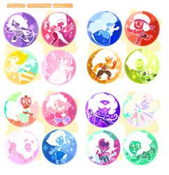 Steven Universe Button Set by SEPULCHRITUDE