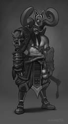 Samurai dude by rzanchetin