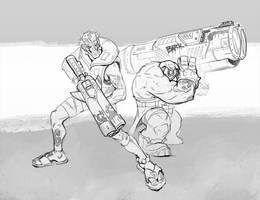 The lifeguard, the dog, the bazooka. by rzanchetin