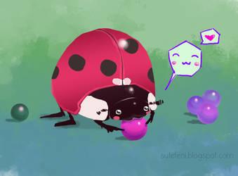 Ladybug Nom by sutefeni
