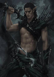 Dark Elf Warrior - Concept 3 by Arsinoes