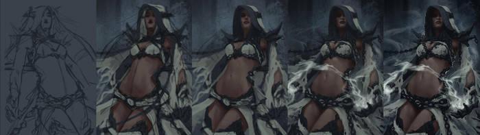 Dark Elf Mage - Steps by Arsinoes