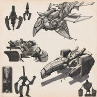 SKETCHBOOK - Spaceships And Robots by VR-Robotica