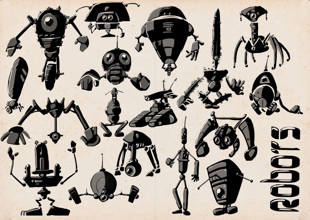 SKETCHBOOK - Robots 01 by VR-Robotica